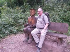 Mike and a friend relax near Yarmouth, I.O.W. - 08/09/2014 - by Sharon Love